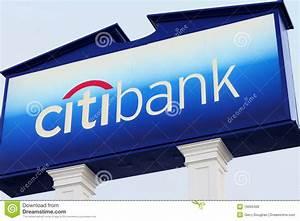 Citibank Logo And Sign At Branch Bank Editorial Image