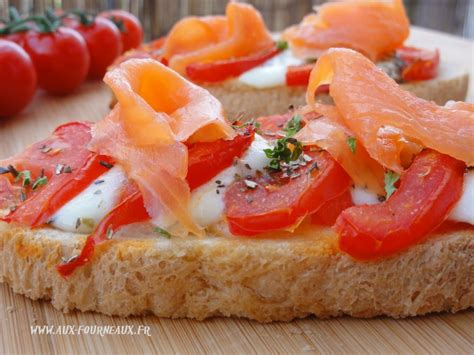 bruschetta de tomate au saumon aux fourneaux