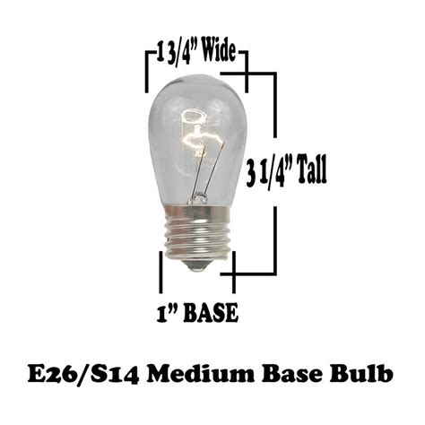 25v replacement lights with white base 25 pack led s14 outdoor patio edison replacement bulbs warm white e26 base ebay