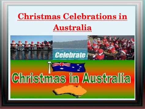 christmas celebrations in australia