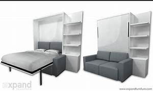 25 best ideas about murphy bed with couch on pinterest With king size murphy bed with sofa