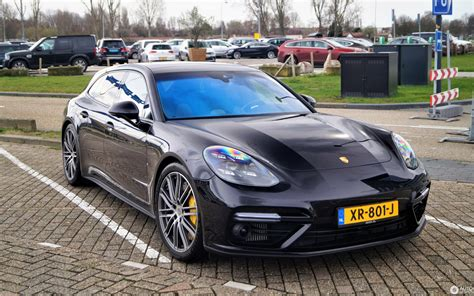 The panamera turbo comes in two flavors, and the more powerful one is a hybrid. Porsche 971 Panamera Turbo S E-Hybrid Sport Turismo - 8 March 2019 - Autogespot