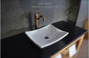 18 quot white marble vessel sink natural stone tahiti white
