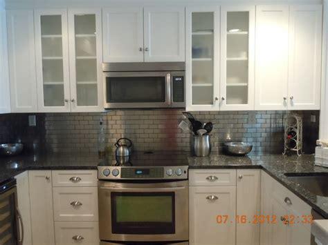 kitchen metal backsplash white with metal backsplash traditional kitchen