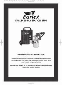 Earlex Paint Sprayer 6900 Users Manual Layout 2