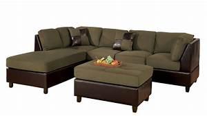 bobkona hungtinton microfiber faux leather 3 piece With 3 piece sectional sofa sale