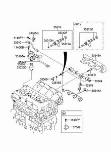 2012 Kia Sorento Throttle Body  U0026 Injector
