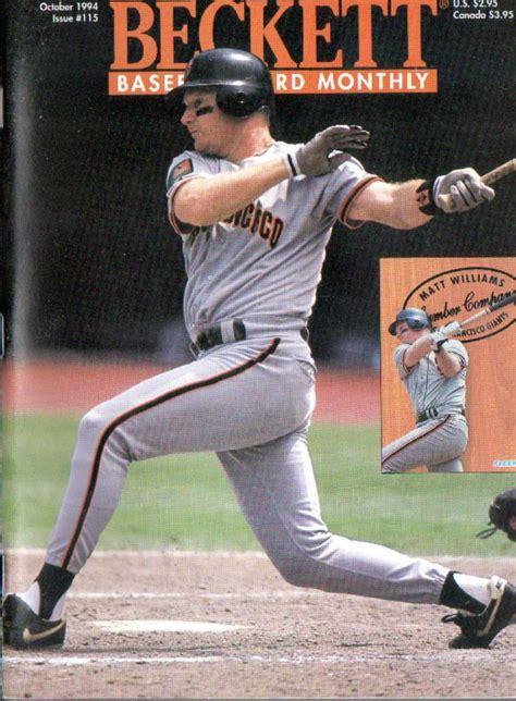 Check spelling or type a new query. OCT 1994 BECKETT BASEBALL CARD MONTHLY- MATT WILLIAMS bc-KLESKO LOPEZ | Baseball cards, Baseball ...