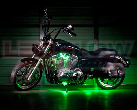 8pc Ledglow Green Led Pod Motorcycle Accent Underglow
