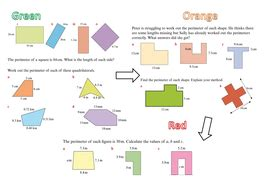 area and perimeter by bballard teaching resources tes