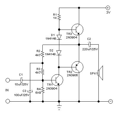 Small Audio Power Amplifier Using Transistors Deeptronic