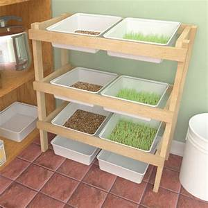 Easy DIY Fodder Rack For Sprouts Farm And Garden GRIT