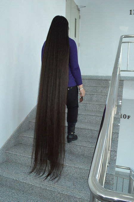 cut floor length  long hair longhaircutcn