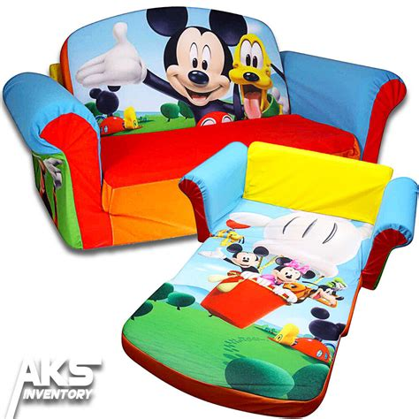 mickey mouse flip open sofa convertable couch lounger
