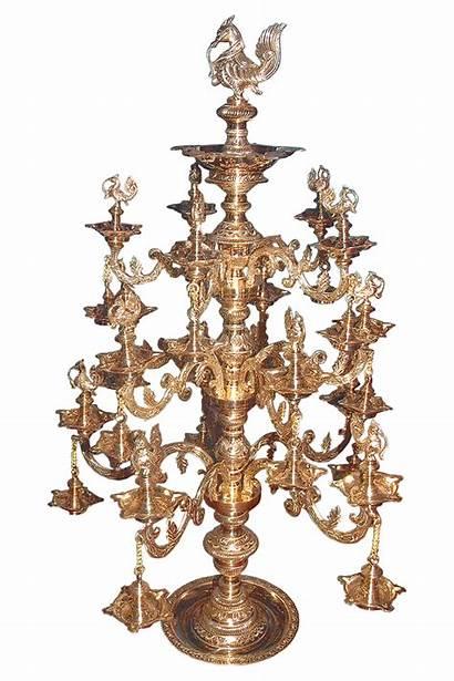Brass Lamp Gold Plated Lamps Kuthu Ornamental
