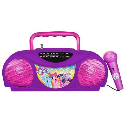 radio microphone karaoke pony fm portable walmart rainbow radios