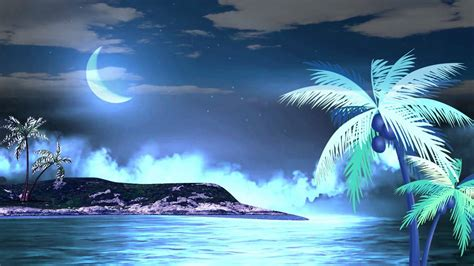 Water Animation Wallpaper - hd relax moon water animated background