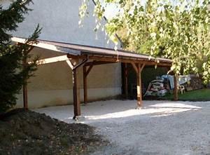 Gouttière Pour Abri De Jardin : abri voiture 1 pente avec goutti res cerisier abris de jardin en bois garage ~ Melissatoandfro.com Idées de Décoration