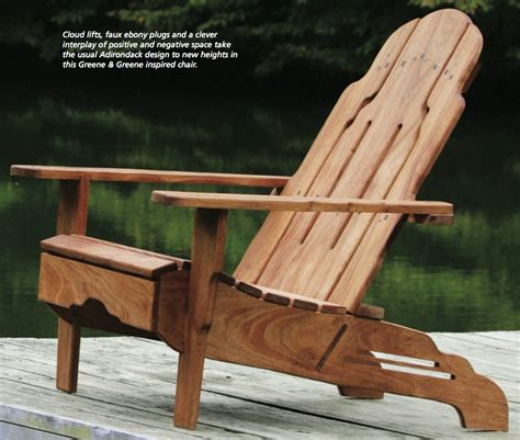 greene greene style adirondack chair  plans