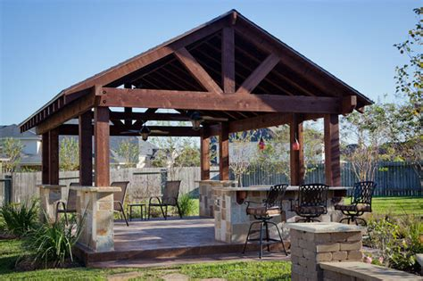 outdoor patio structure for entertaining in katy tx