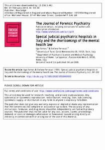 (PDF) Special judicial psychiatric hospitals in...