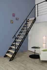 Escalier Gedimat by Escalier Droit Modulable Bi Mati 232 Re H 234 Tre Brut Acier Noir