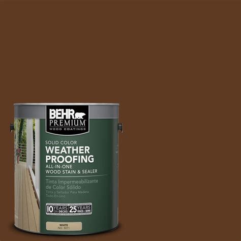 Behr Deck Home Depot by Behr Premium 1 Gal Sc 129 Chocolate Solid Color
