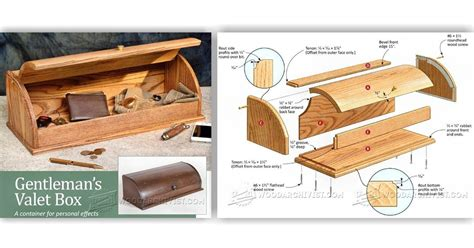 valet box plans woodarchivist