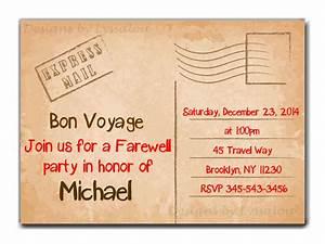 travel farewell party invitation bon voyage going With bon voyage invitation templates free