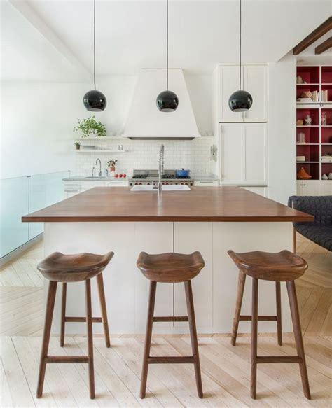 cuisine plan de travail en bois cuisine blanche plan de travail bois inspirations de déco