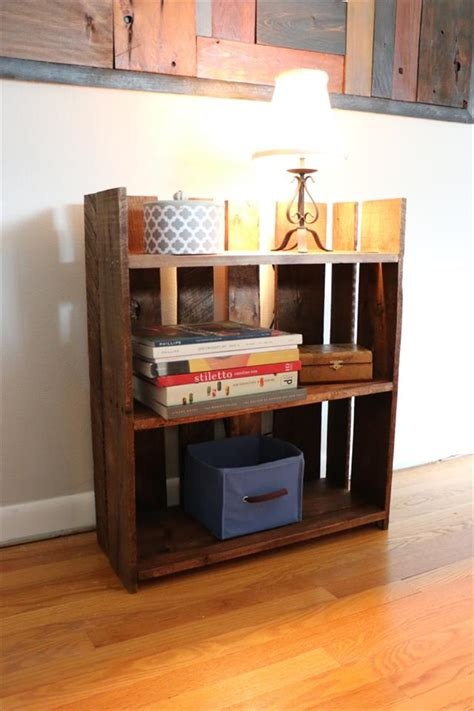 diy pallet bookshelf pallet furniture plans