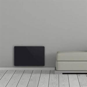 Chauffage Panneau Rayonnant : cocoon 39 radiateur lectrique panneau rayonnant verre noir ~ Edinachiropracticcenter.com Idées de Décoration