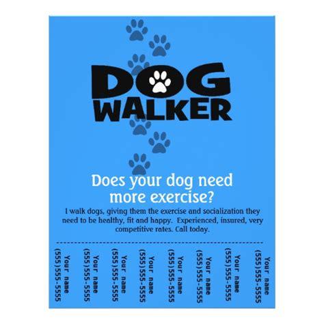 walking flyer template free walker promotional tear sheet flyer template b zazzle
