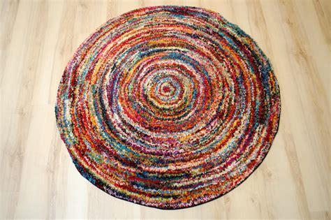 tapis multicolore design  arrondir moderne xcm