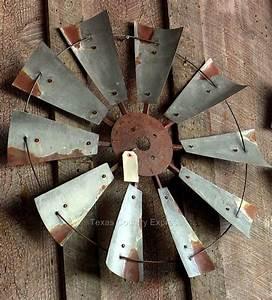 Quot rustic windmill head fan western ranch barn farmhouse