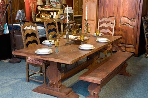 cuisine rustique chene meubles de salle à manger table de bois massif faites