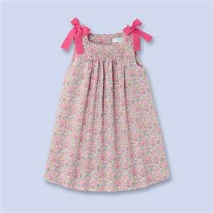 Robe en tissu liberty fille rose multico jacadi jacadi for Robe liberty fille