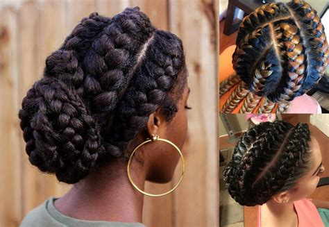 hairstyles for black hair braids stunning goddess braids hairstyles for black