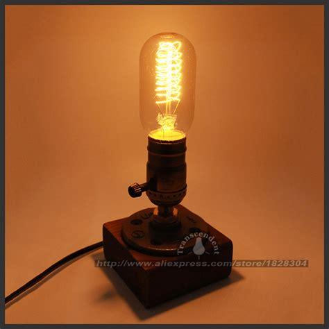 edison bulb desk l retro coffee shop table l wood vintage desk l