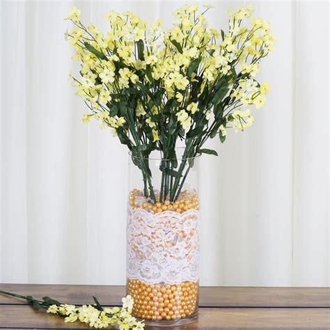 bushes baby breath silk filler flowers  wedding