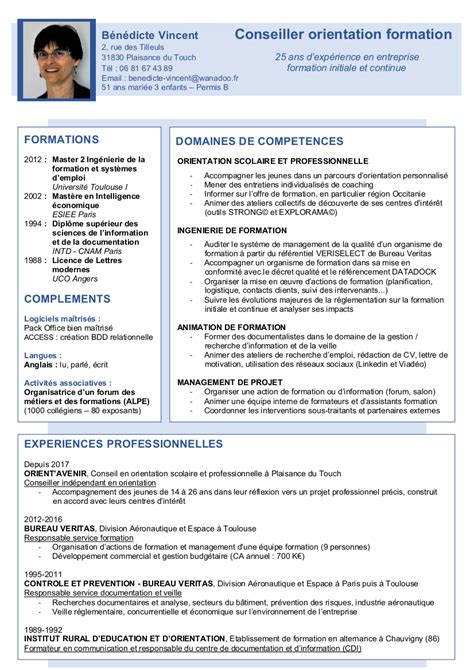 Nouveau Modele Cv by Cv B Vincent 05 2017 Nouveau Mod 232 Le Orient Avenir
