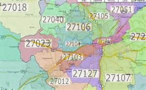 Winston Salem NC Zip Code Map