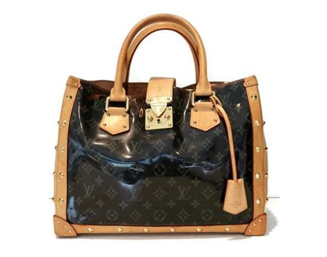 louis vuitton brown pvc cabas clear ambre limited edition