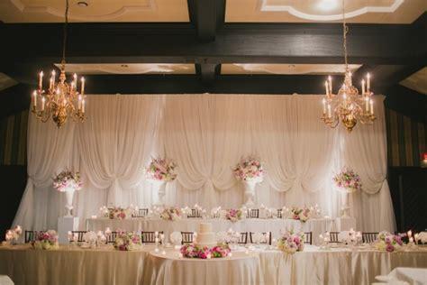 large wedding party backdrop  mill toronto wedding