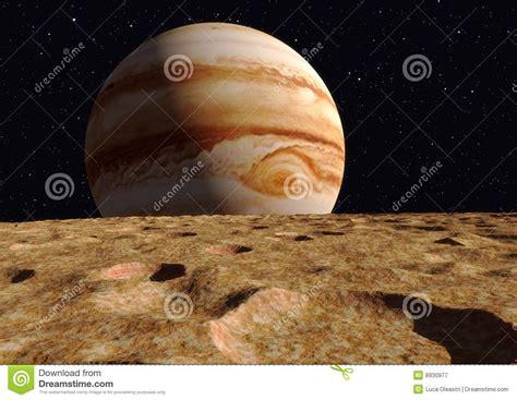 ganymede moon jupiter royalty  stock photography