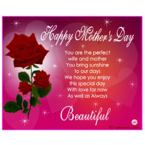 happy mothers day    perfect wife   mother