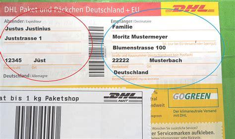 briefe und pakete richtig beschriften fuer deutschland