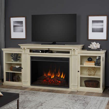 fireplace tv stand walmart real tracey 84 quot fireplace tv stand in black