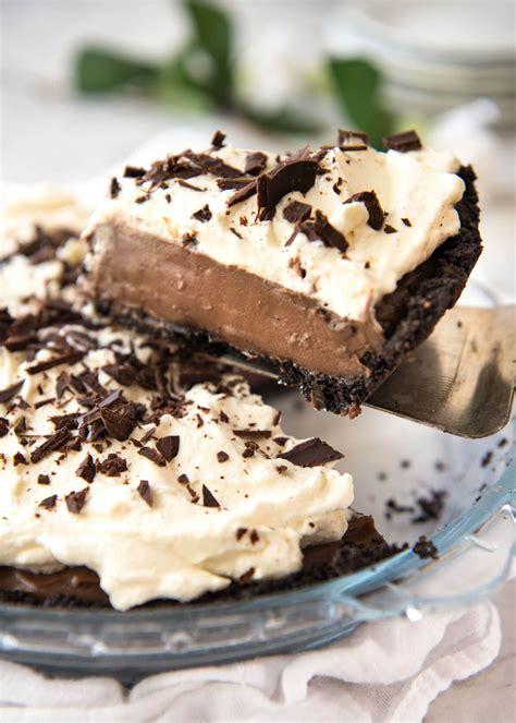 recipe for easy chocolate pie chocolate cream pie recipetin eats