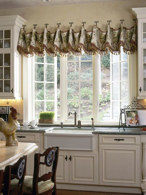 Decorating Ideas Kitchen Window Dressing by Creative Kitchen Window Treatments Hgtv Pictures Ideas